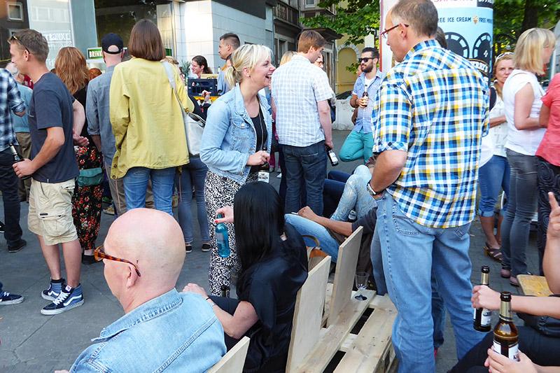 Dortmund Kreuzviertel bei Nacht Juli 2015