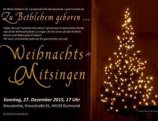 Weihnachts-Mitsingen in der Kreuzkirche Dortmund 2015