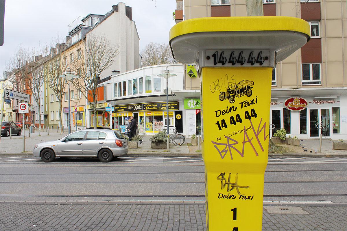 Taxirufsäule Beurhausstraße Dortmund