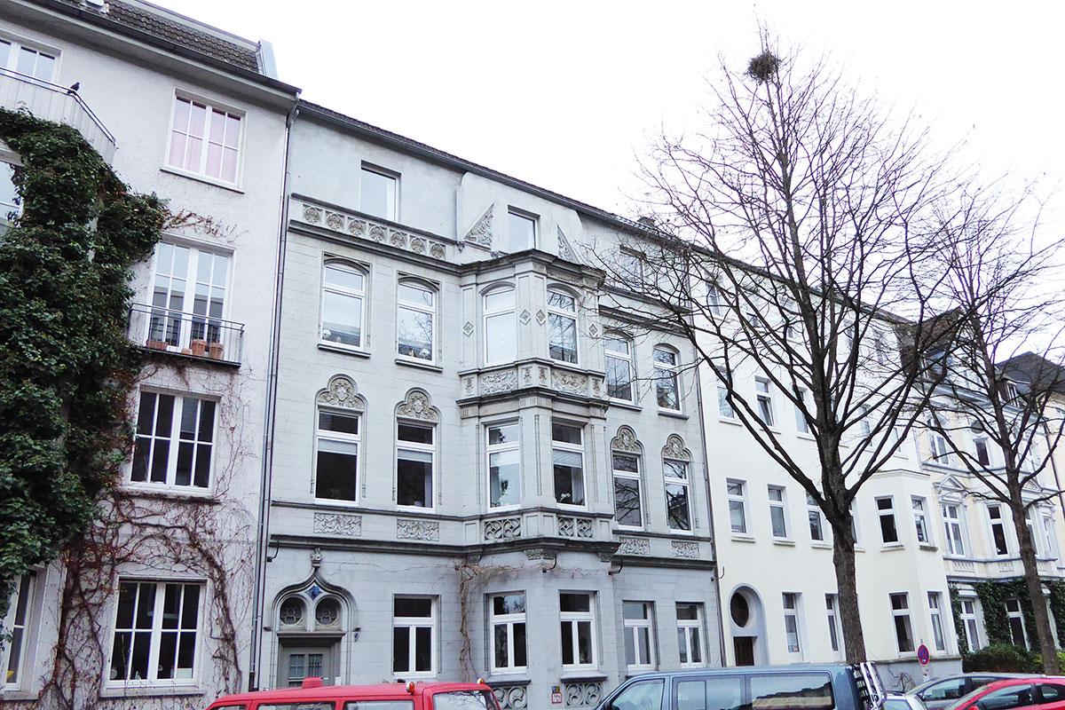 Dortmund Klinikviertel Hausfassaden aus der Gründerzeit