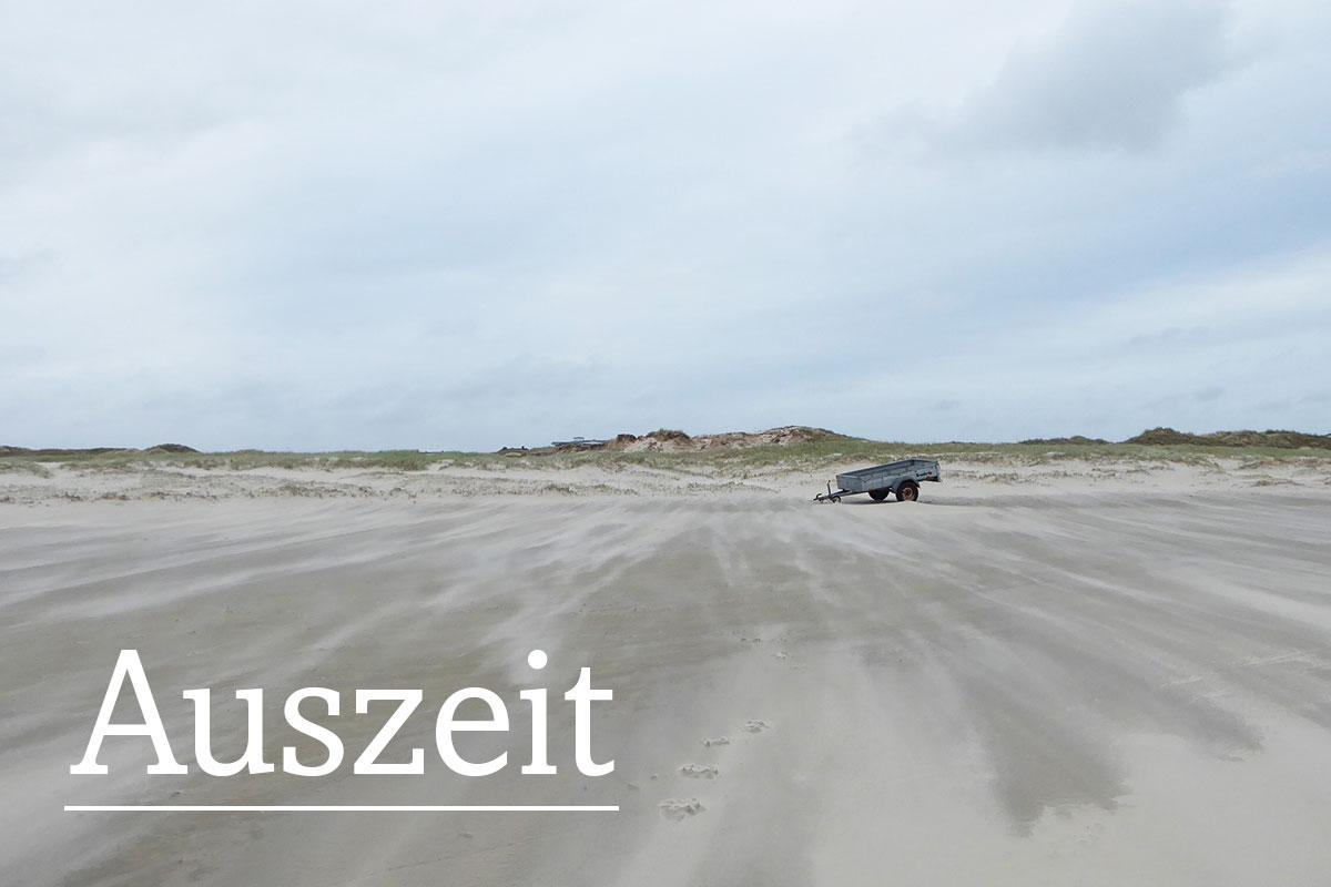 Menschenleerer Strand bei Sankt Peter-Ording