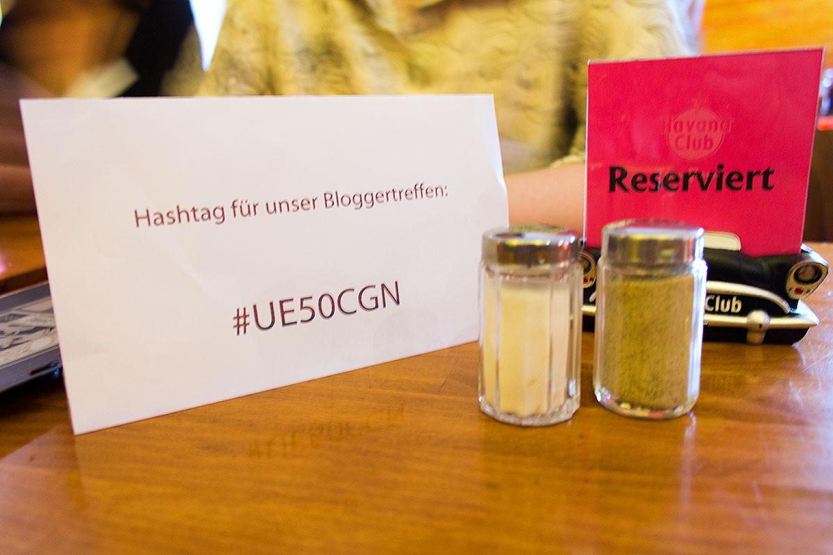 Bild Hashtag für unser Bloggertreffen: #UE50CGN