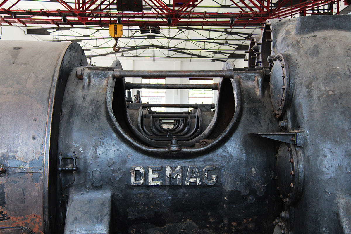 Alte Maschinenanlagen auf der Kokerei Hansa, Dortmund
