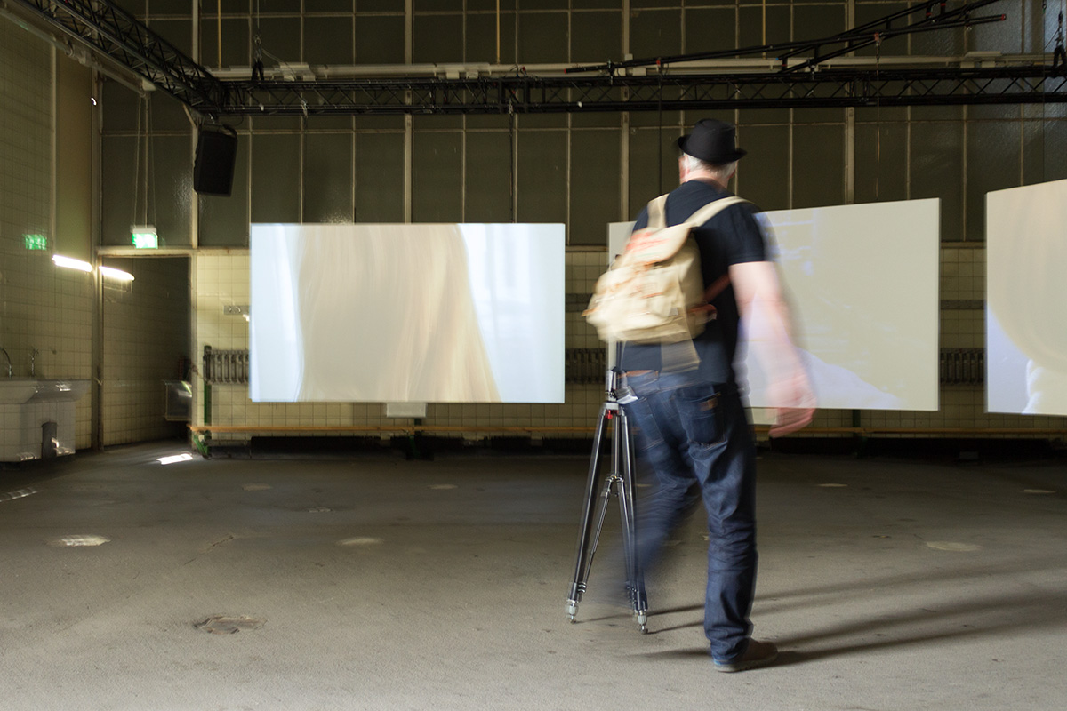 Dirk Friedrich, Panoramafotograf, bei der Arbeit