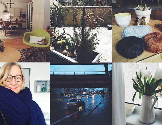 Collage aus sechs Bildern des Instagram-Accounts von Anke Hedfeld