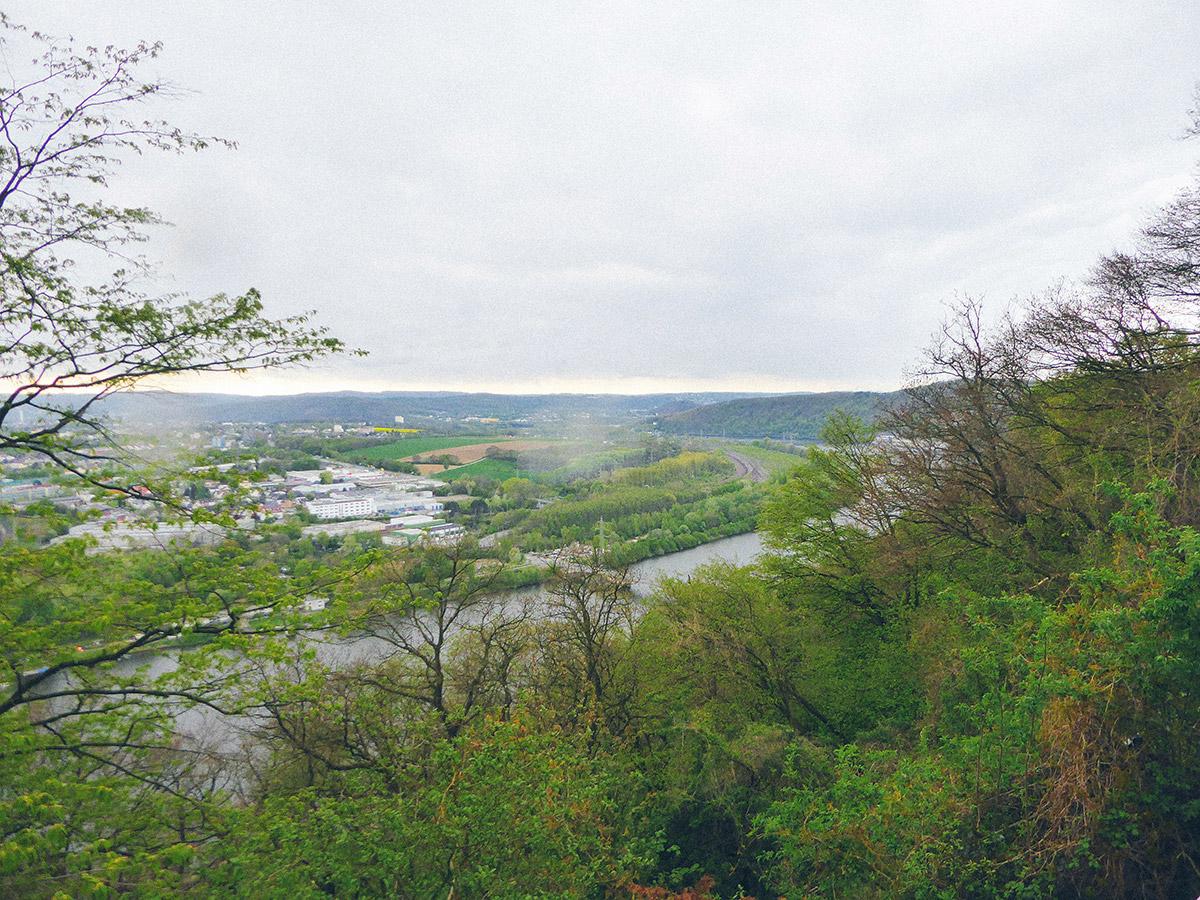 Jakobsweg Westfalen Hohensyburg Blick auf die Ruhr Dortmund
