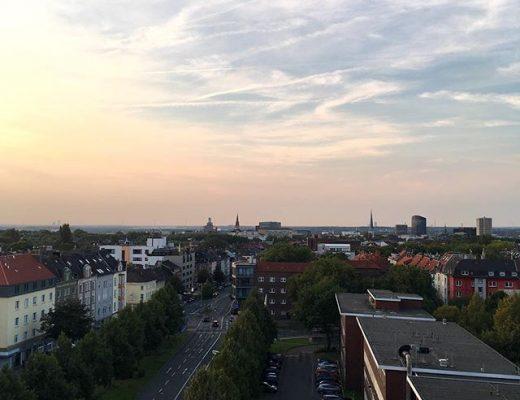 Blick vom Poizeipräsidium Hohe Straße Dortmund über die Skyline von Dortmund