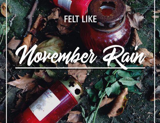 Grafik Felt like November rain lately