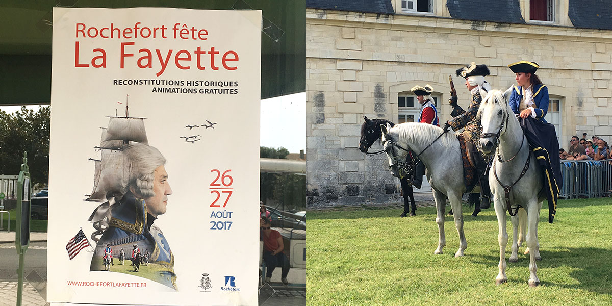 Plakat Rochefort fete La Fayette