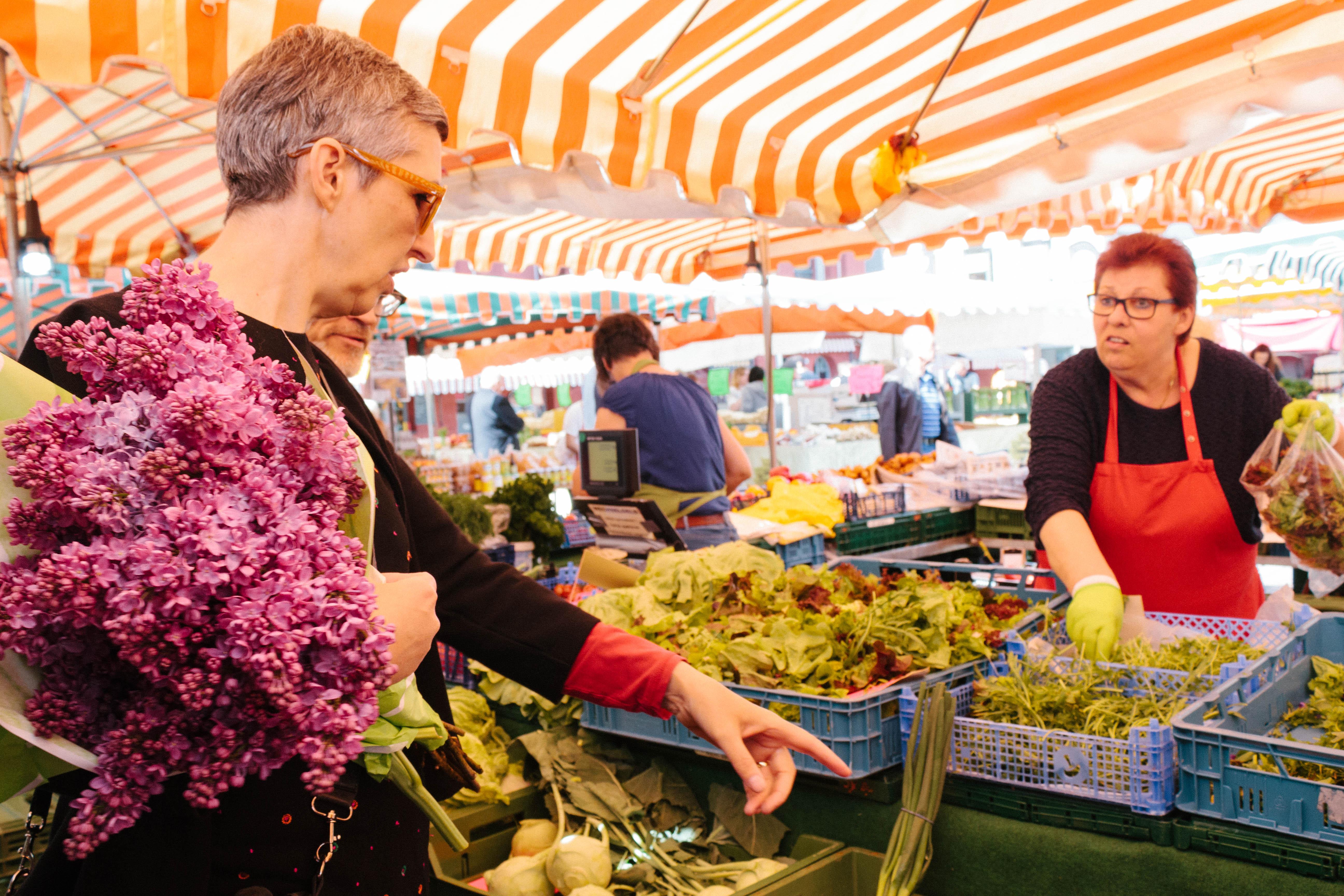 Marktgeschehen in Mannheim